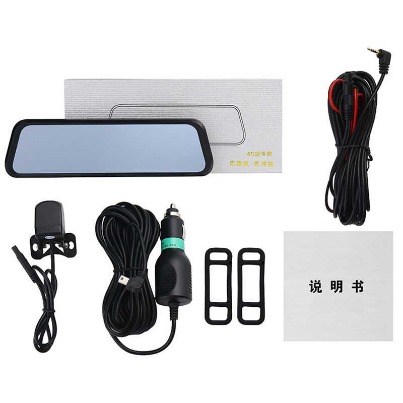 "Car DVR 10"" Stream RearView Mirror Touch screen Super night vision 1080P Dash Cam Camera Video Recorder Auto Registrar Dashcam"