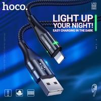 Hoco USB Typ C Kabel schnelle lade daten sync draht für USB Type C Lightning kabel telefon ladegerät anzeige nylon geflochtene für iphone android