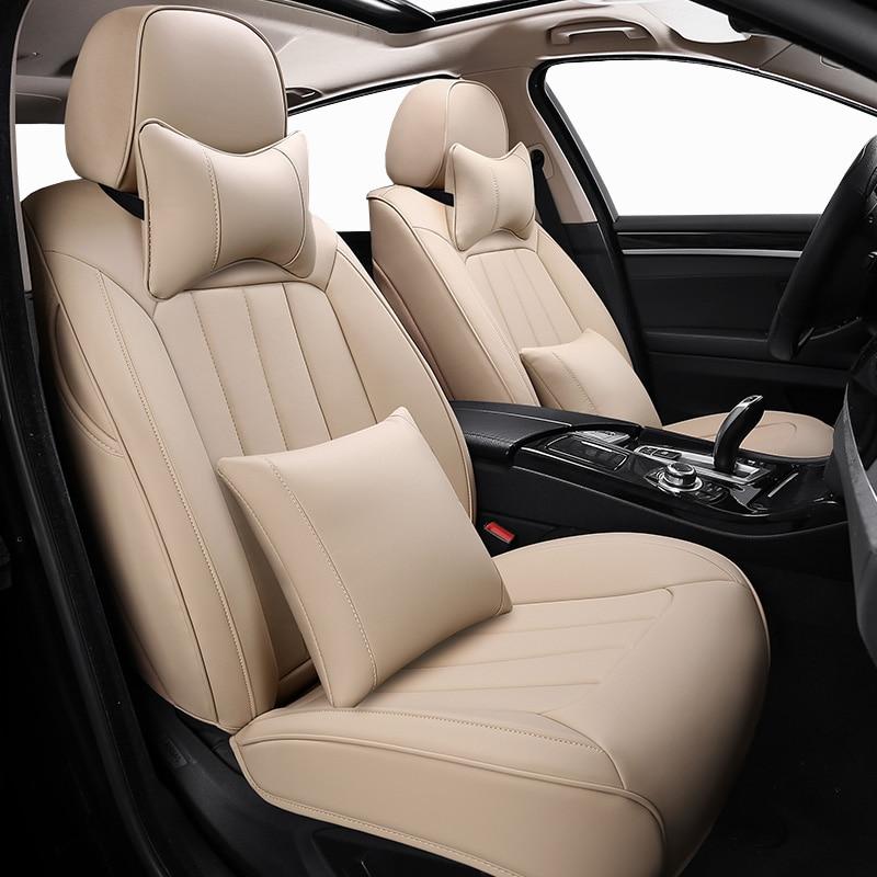 Custom Leather Car Seat Cover For Nissan 350z almera classic g15 n16 bluebird cefiro juke leaf note primera auto Seat Covers