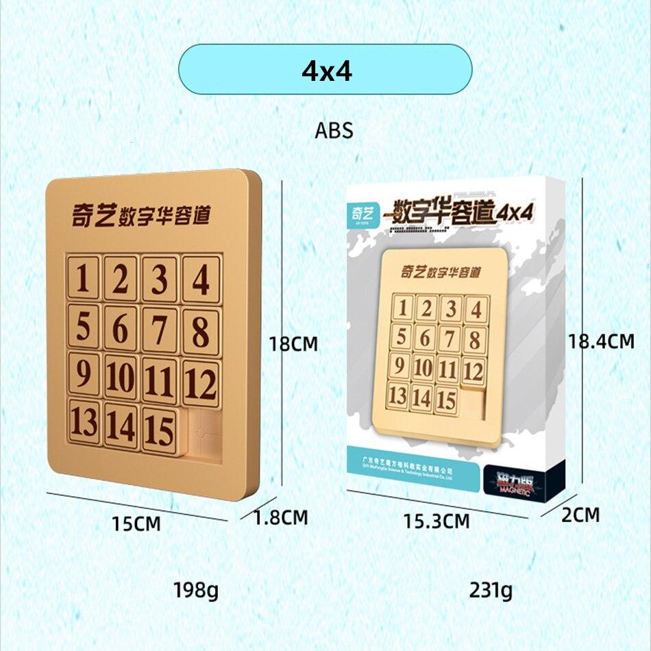Qiyi-cubo mágico deslizante, 3x3, 4x4, 5x5x5, quebra-cabeça