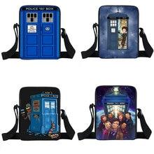 Blue House  Design Messenger Bag Women  Casual Travel Bag Adult Doctor Who Mini Shoulder Bags girls boys Cross School Bags