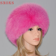 Best Selling Ladies Fox Cap Casual Luxury High Quality Female Fox Hat Russian Winter Hat hair accessories(China)