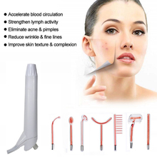 7 Pcs High Frequency Facial Machine Parts, Portable High Frequency Skin Tightening Acne Spot Wrinkles Remover Beauty Tool high frequency machine handheld high frequency skin tightening acne spot wrinkles remover beauty therapy puffy eyes facial care
