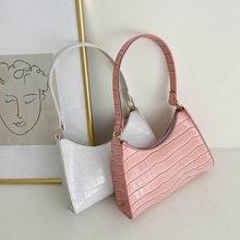 Bolso de hombro Retro e informal para mujer, exquisito bolso de compras a la moda, con cadena de cuero PU, envío gratis, 2021