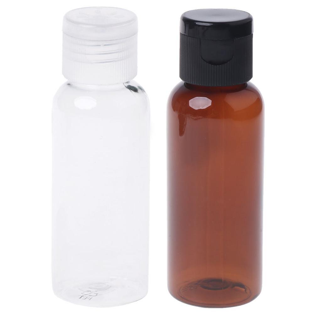 10ml 30ml 50ml Travel Empty Flip Cap Refillable Bottle Makeup Emollient Water Perfume Oil Container Clear/Brown