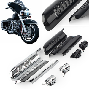2 uds horquilla de la parte inferior de la pierna deflector de protección cubierta de cromo para Harley Touring FLHT 2000 01 02 03 04 05 06 07 08 2009, 2010, 2011, 2012, 2013