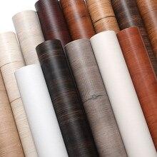 60Cm Nhựa PVC Chống Thấm Nước Giấy Dán Tường Tự Dính Làm Dày Giả Vân Gỗ Tủ Quần Áo Tủ Đồ Nội Thất Đổi Mới Dán Cửa