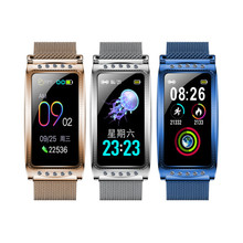 Smartwatch חדש F28 חכם נשי שעון נשים גבירותיי Ip67 קצב לב לחץ דם חמצן מחובר
