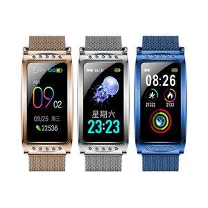 Image 1 - Smartwatch Neue F28 Smart Weiblichen Uhr Frauen Damen Ip67 Herz Rate Blutdruck Sauerstoff Verbunden