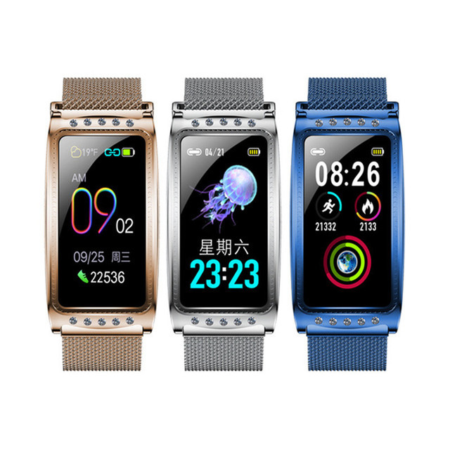 Smartwatch nouveau F28 Smart femme montre femmes dames Ip67 fréquence cardiaque pression artérielle oxygène connecté