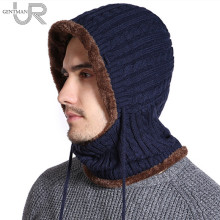 New Winter Knitted Hat Unisex Balaclava Long Neck Protection Skullies B
