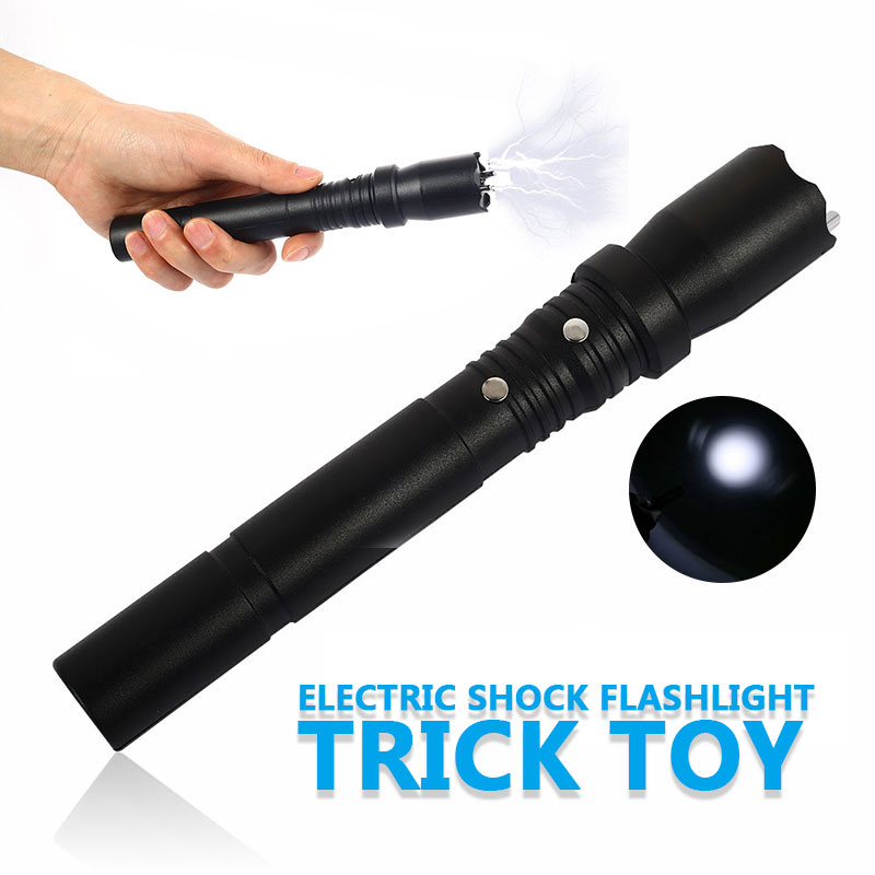 Novelty Joke Prank Trick Electric Toy 2-In-1 Black Hobby Gagster Shock Stick Electronic Shock Stick For Halloween Christmas Gift
