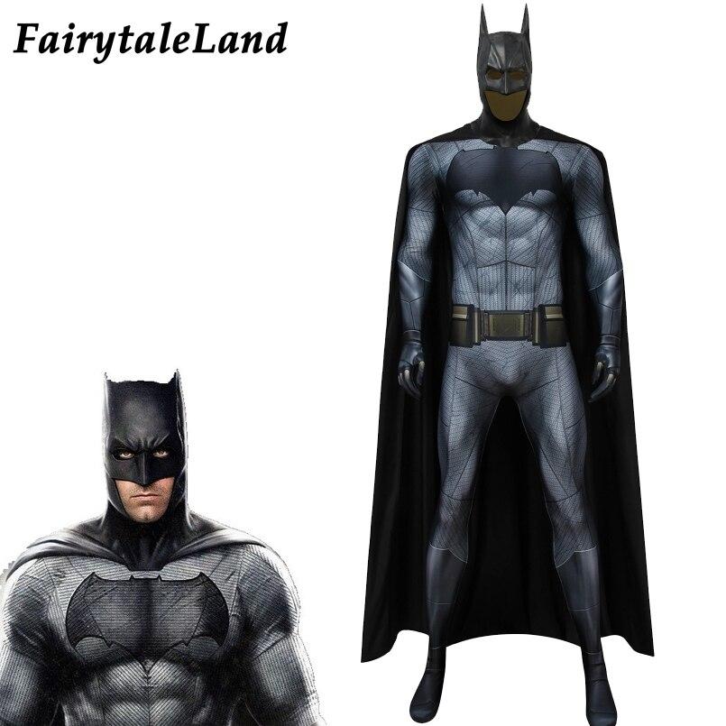 Movie Batman v Superman Dawn of Justice Cosplay costume Batman Suit 3D printing Bodysuit Bat man Bruce Wayne Cosplay Outfit prop