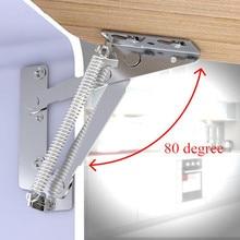 2 teil/satz sofa 80 grad Sprung Scharniere Klapp scharnier sofa lift unterstützung verbindung Schrank Scharniere Möbel Hardware Zubehör