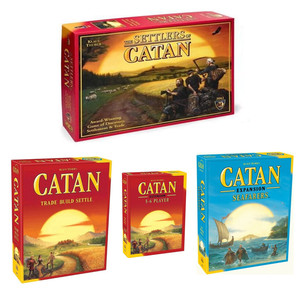 Settlers of Catan Strategy Board Game 5th Edition With Seafarer 5-6 Player Expansion Party Table Game Toy Gift For Children(China)