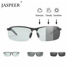 JASPEER Men Photochromic Polarized Driving Sunglasses Eyewear Windproof UV400