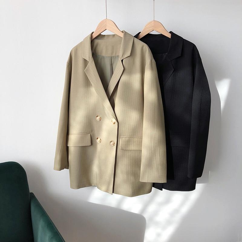 2020 Women Spring Blazer Coat Turn Down Collar Women Vintage Coat Casaco Feminino Tops For Women Elegant Coat Outerwear
