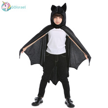 Halloween childrens neutral dance party performance costumes cloak pink cute cosplay bat wings holiday festival