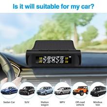 Car TPMS Tire Pressure Monitoring System Car Wireless Alarm System TPMS, 4 External Sensors, Tire Pressure & Temperature Display