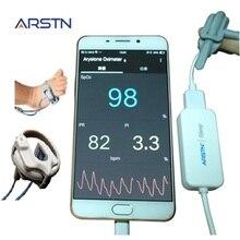 1 Sensor Pasgeborene Baby Kind Volwassen Handpulsoximeter Voor Android Telefoon Usb Met Otg Functie, Sleep Monitor, gegevens Opnemen