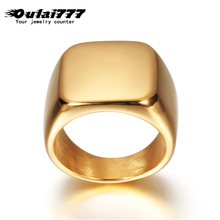 oulai777 ring stainless steel ring men square 2019 fashion personalized rings men jewelry silver black blue gold punk ring
