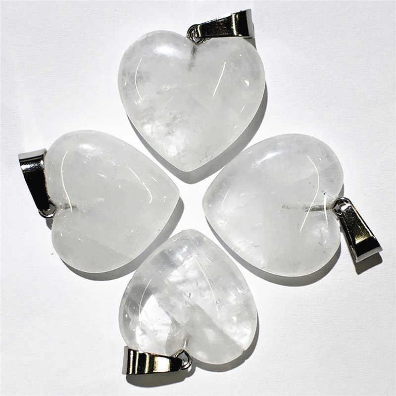 1pcs 20 MILLIMETRI Accessori Dei Monili di Cristallo FAI DA TE Chakra Del Cuore-a forma di Del Pendente Coppie Collane Reiki Naturale Perline Sparse Amano di modo