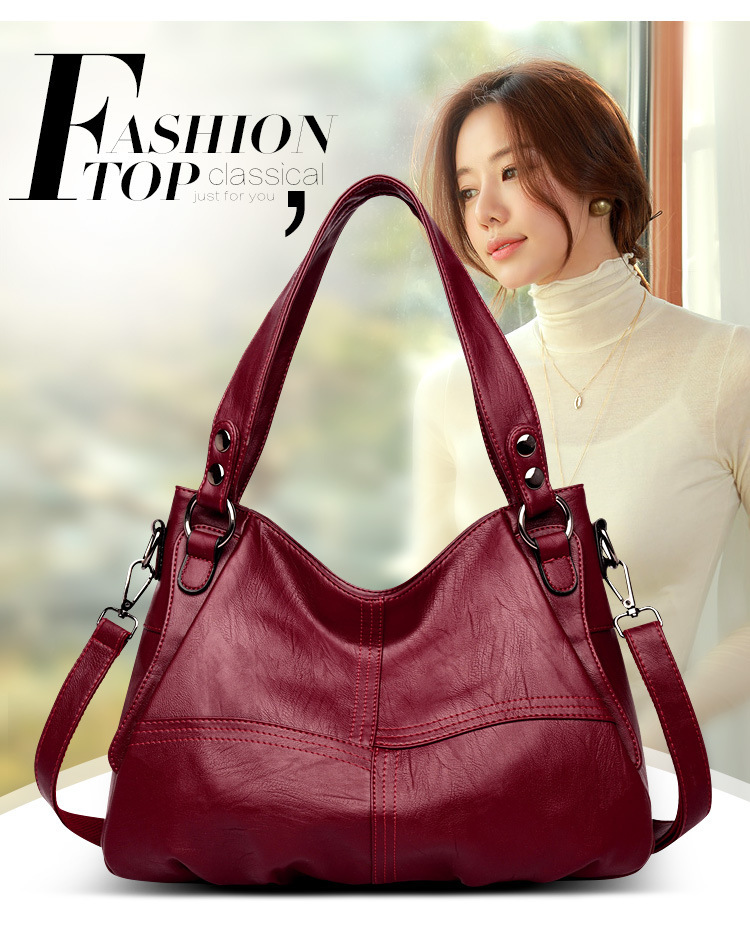 Fashion Genuine Leather Handbag Ladies bags Large Leather Designer Big Tote Bags for Women Luxury Shoulder Bag Women's Handbgs