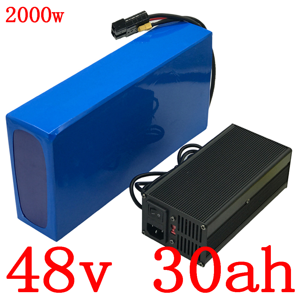 1000W 1500W 2000W 48V Li-ion battery pack 48V 30AH electric scooter battery 48V lithium ebike battery with 50A BMS and charger