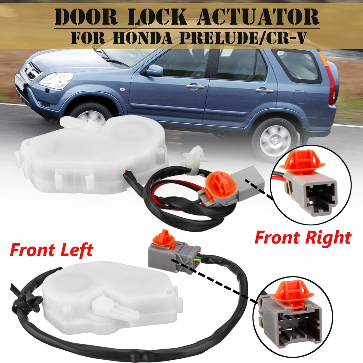 Front Left Right Side 72155S03J11 72115S03G11 Central Door Lock Actuator For <font><b>Honda</b></font> for <font><b>Cr</b></font>-<font><b>V</b></font> Prelude <font><b>1997</b></font> 1998 1999 2000 <font><b>2001</b></font> image