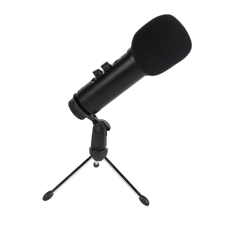 USB Condenser Recording Microphone Cardioid Studio Recording Vocals Voice Mic Plug and Play without Driver Software image
