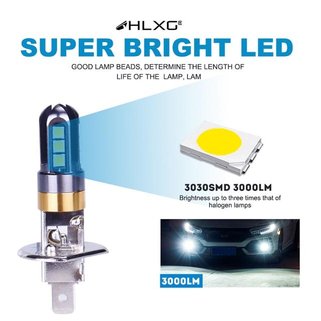 360 Super LED H1 H3 Auto Nebel lampen 6000K Weiß 3030 SMD Scheinwerfer Lampen Nebbia Motorrad 12V Lauf lichter hohe abblendlicht HLXG