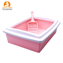 Pet-Toilet Cats-Litter-Box Kitten Scoop Bedpan Sandbox Dog-Tray Anti-Splash Plastic