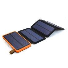 10000 10000mah ソーラーパワーバンク防水デュアル usb ポータブル太陽光発電充電器 iphone アプリサムスン xiaomi 屋外キャンプ