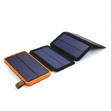 10000 mah banco de energia solar à prova ddual água dupla usb portátil carregador de energia solar para iphone ipad samsung xiaomi acampamento ao ar livre
