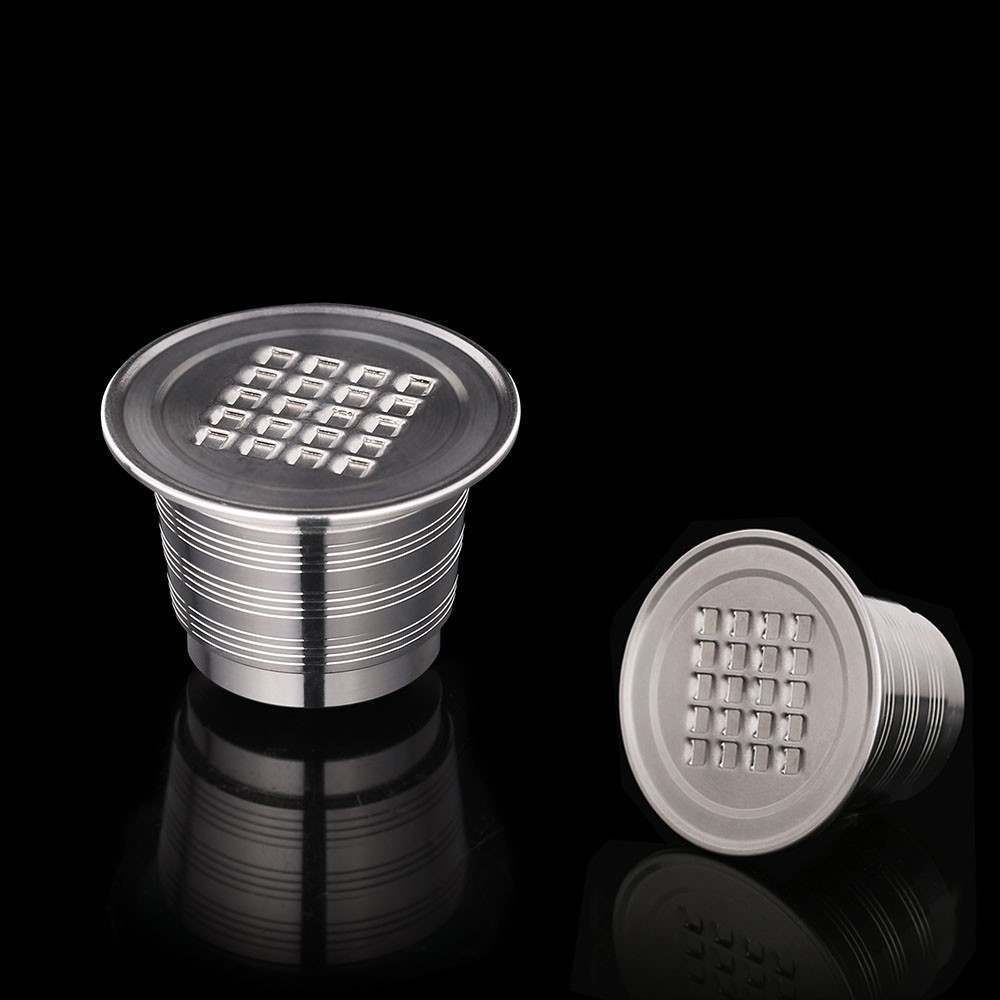 2019 New Version Stainless Steel Refillable Coffee Capsules Reusable Coffee Filters Pods For Nespresso Machines Coffeeware Gifts