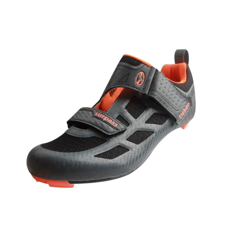 Tiebao nouveaux hommes chaussures de vélo de route anti-dérapant respirant chaussures de cyclisme Triathlon chaussures de Sport athlétique Zapatos bicicleta - 3
