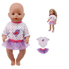 New American doll clothes accessories swimsuit + skirt suit for 18-inch and 43cm baby doll, generation, gift