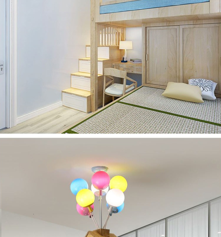 Ha80a4398889c46279dad59daa5221b377 Ceiling light Childrens room living room restaurant dining room decorative lights for home kids simple Modern led ceiling lamp