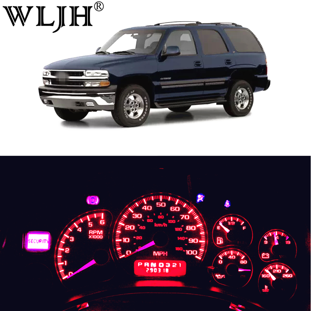 WLJH 11x High Bright 12V Dash Led Light Kits Instrument Panel Cluster Gauge Illumination Bulbs for 2000-2002 Chevrolet Tahoe