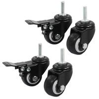 Rueda de compras  rueda giratoria de freno  1 5 pulgadas  negro  4 piezas|Ruedas| |  -