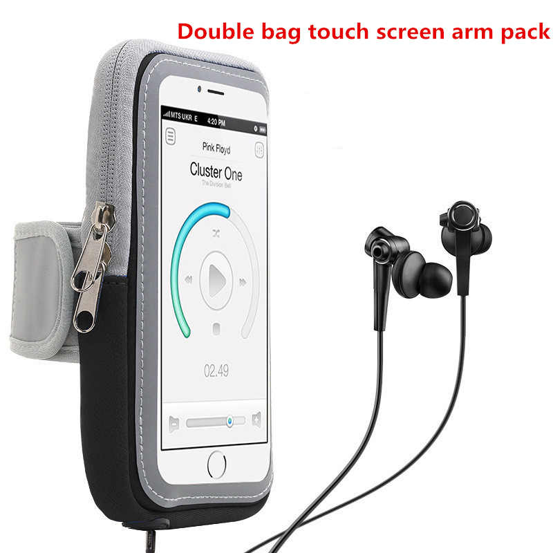 Universal Armกระเป๋า 4-6 นิ้วโทรศัพท์มือถือMotion ArmbandสำหรับกีฬาArm Bandผู้ถือโทรศัพท์บนแขนกรณี