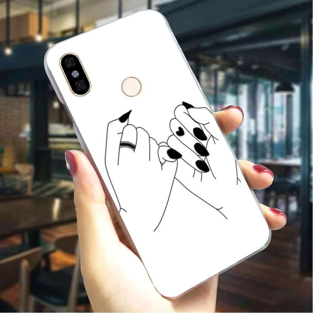 Caixa do telefone Para Xiao mi mi Tampa 8 Sempre Ser O Melhor Amigo mi A1 A2 Lite 5X6X6 8 Lite 9 9se 9 mi mi x 2S T Pro CC9E CC9 A3 Pro