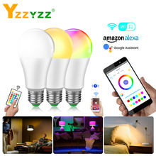 E27 LED Night Light Wifi APP Control Smart Bulb 10W RGBW RGBWW RGB 15W Bluetooth Lamp IR Remote Control Home Lighting AC 85-265V