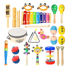 Percussion-Instrument-Set Musical And Toddler Wooden Education 22pcs