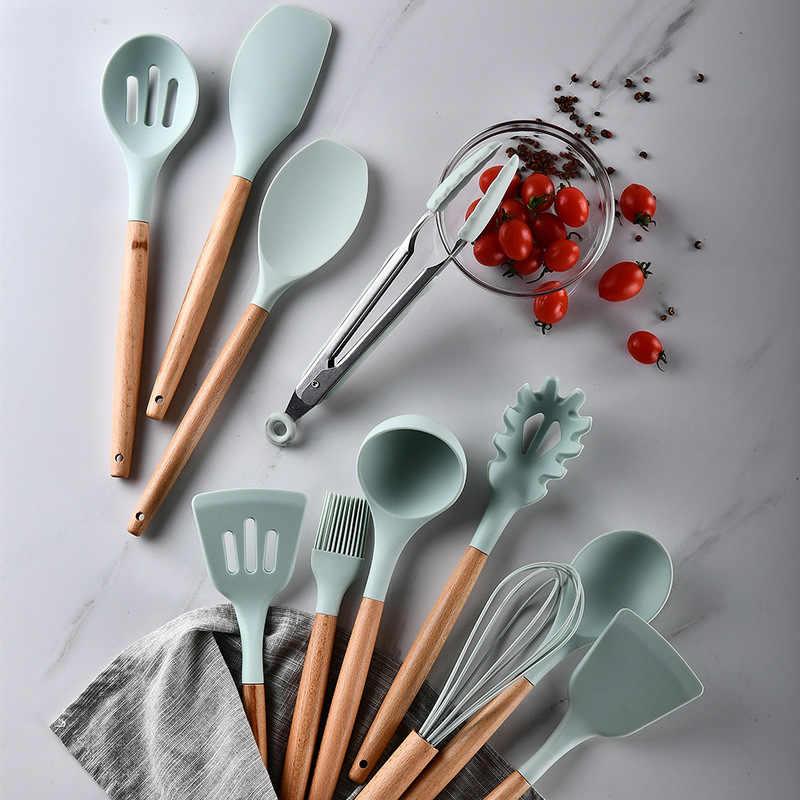 Nieuwe Siliconen Turner Soep Lepel Spatel Borstel Schraper Pasta Server Eiklopper Keuken Koken Gereedschap Keukengerei Roze/Zwart/ groen