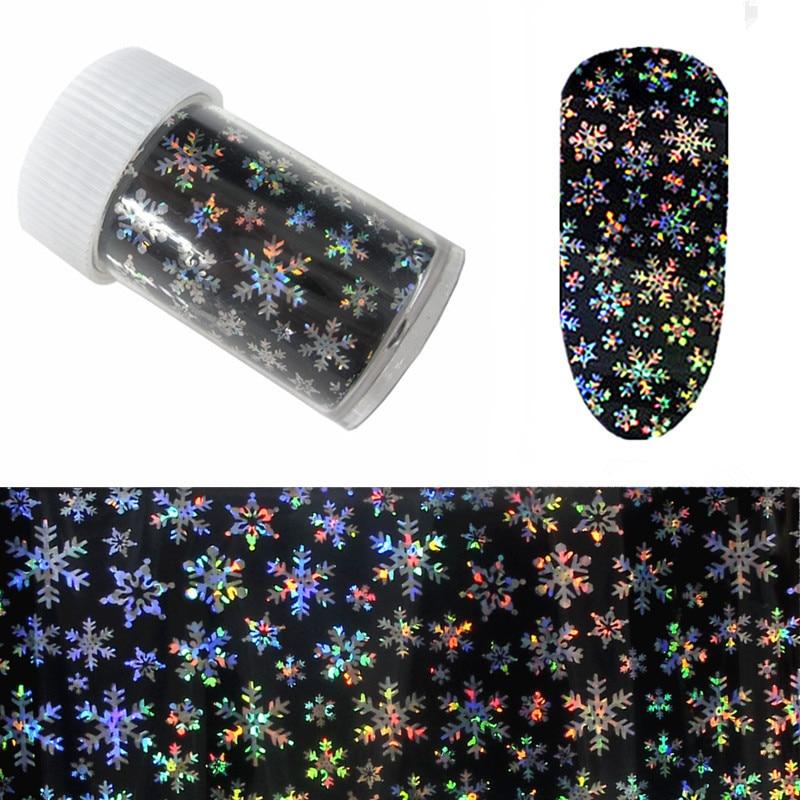 Christmas Season Manicure Symphony Snowflake Star Stickers Black Snowflake Star Stickers Transfer Printing 4 Cm * 100 Cm