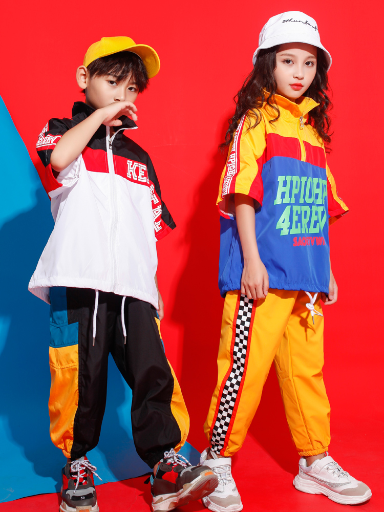 Kid Carnival Performance Hip Hop Clothing Running Casual Pants For Girls Boys Jazz Dance Wear Costume Clothes Street Wear Outfit