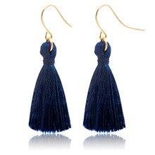 New Fashion Sweet Drop Earrings Temperament National Wind Earring Tassel Hook Earrings Women Jewelry Accessories Wholesale WD421 цена