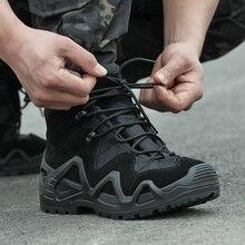 الجيش المشجعين أحذية قتالية تكتيكية حذاء للسير مسافات طويلة الرجال في الهواء الطلق الصيد تسلق أحذية مقاومة للماء عدم الانزلاق عالية التمهيد العسكرية