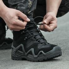 אוהדי צבא Combat טקטי מגפי נעלי הליכה גברים חיצוני ציד טיפוס נעלי מים עמיד החלקה גבוהה למעלה צבאי אתחול
